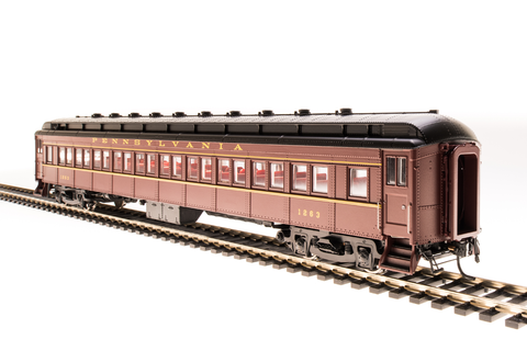 Broadway Limited HO PRR P70R Coach with Ice Air Conditioning - RTR -Painted, Unlettered (Tuscan, Black)