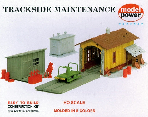 Model Power HO Storage Shed, Transformer Box & Shed w/Extension Kit