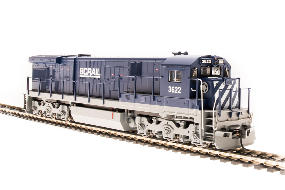 BROADWAY LIMITED IMPORTS HO GE C30-7 BC RAIL 3622 W/SOUND
