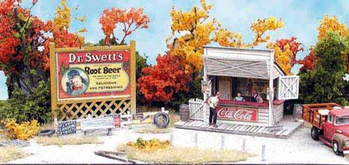 Bar Mills HO Swanson's Lunch Counter w/Billboard Kit