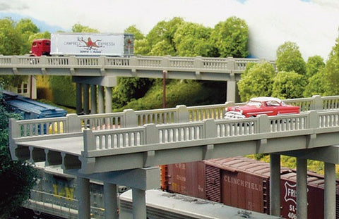 Rix Products HO Vintage Highway Overpass -- Includes Pier Kit