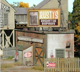 Bar Mills HO Rusty's Radiator Co. Kit