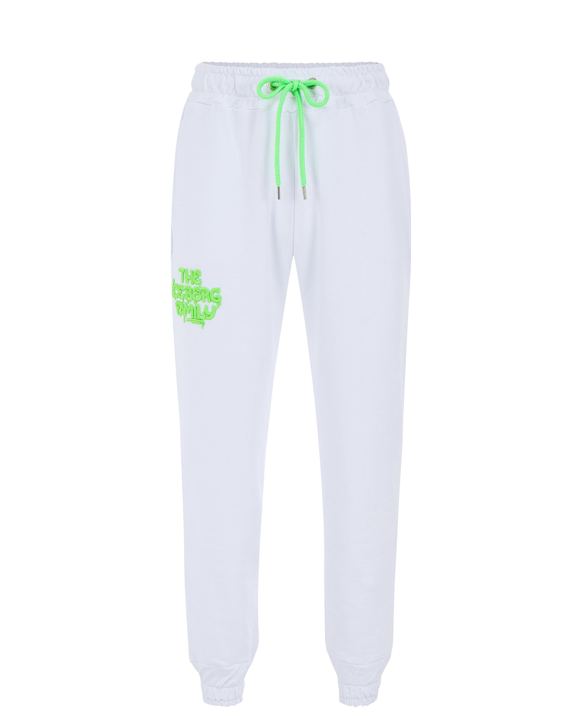 Pants Jogging Vandal White Green Fluo