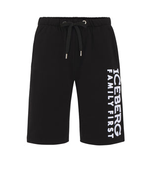 Shorts Embroidered Black