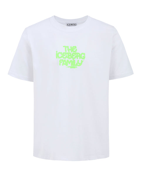 T-shirt Vandal White Green Fluo
