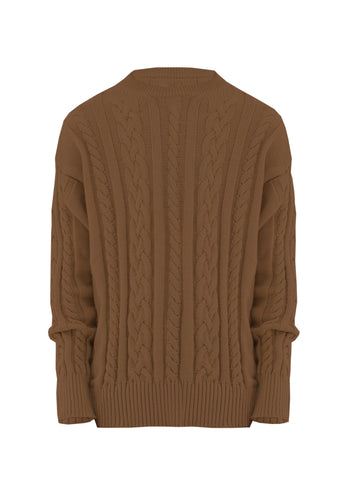 Sweater Braided Brown