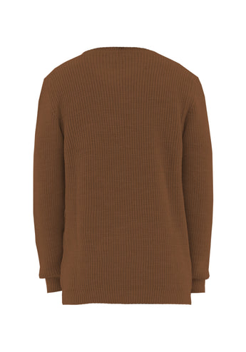 Sweater Over Brown