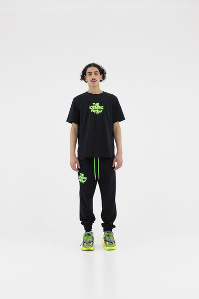 T-shirt Vandal Black Green Fluo