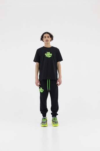 Pants Jogging Vandal Black Green Fluo