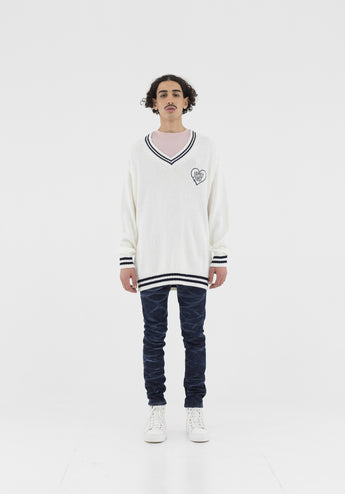 Sweater V-neck Off-White