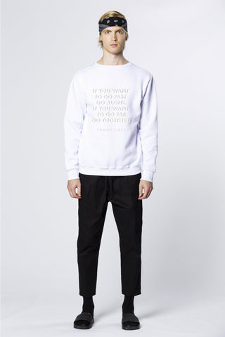Sweatshirt Family First White