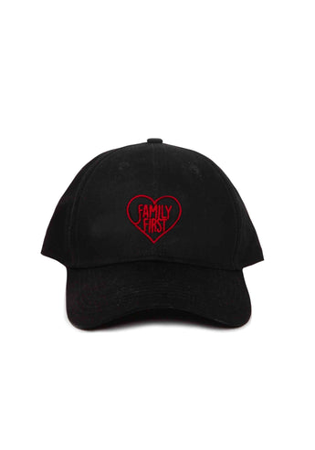 Baseball Cap Heart Black