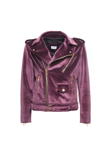Biker Velour Bordeux