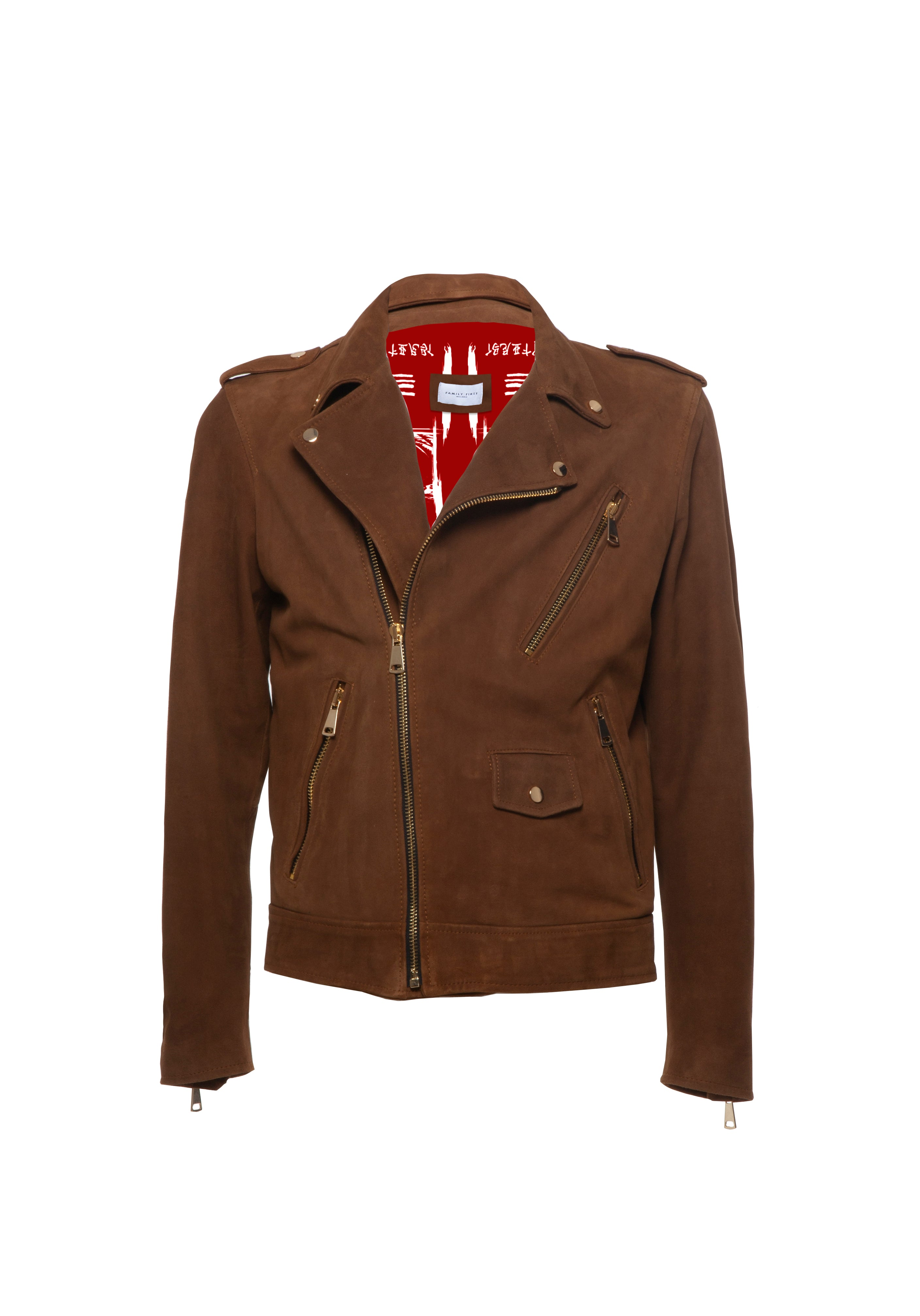 Biker Leather Suede Brown