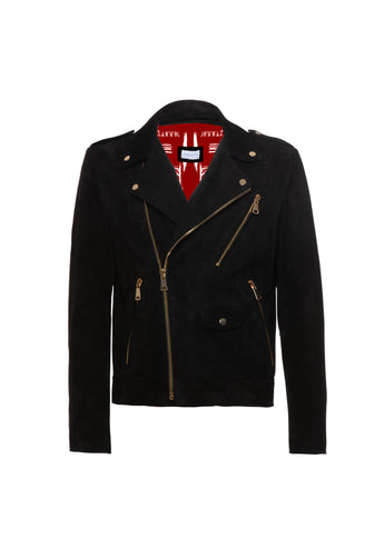 Biker Leather Suede Black