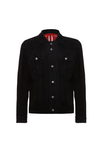 Jacket Leather Suede Black