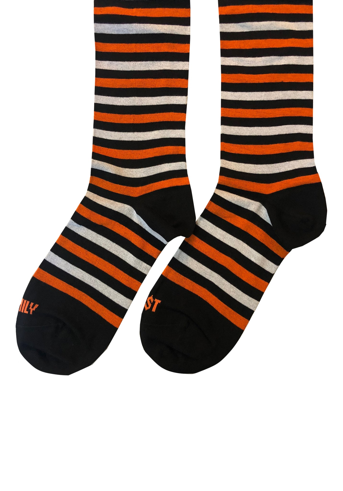Striped Long Socks Orange Black