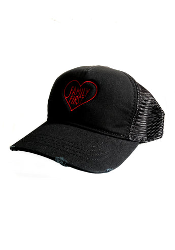 Tracker Cap Heart Red