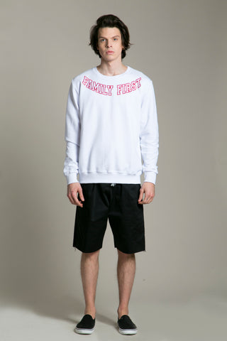 Sweatshirt Collar White