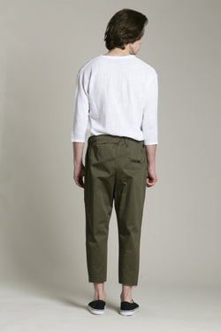 Pants Cotton Military Green