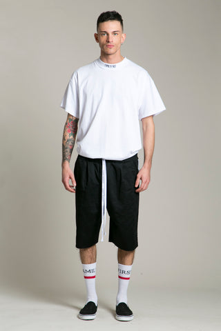 Shorts Cotton Black FF Side Strip
