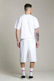 Shorts Cotton White FF Side Strip
