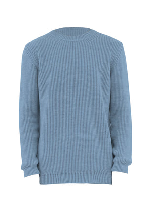 Sweater Over Light Blue
