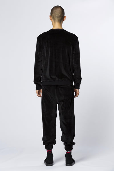 Chenille Black Pants