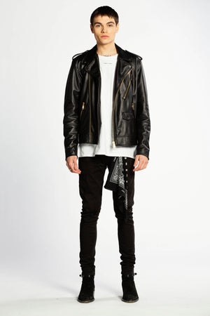 JACKET LEATHER BLACK