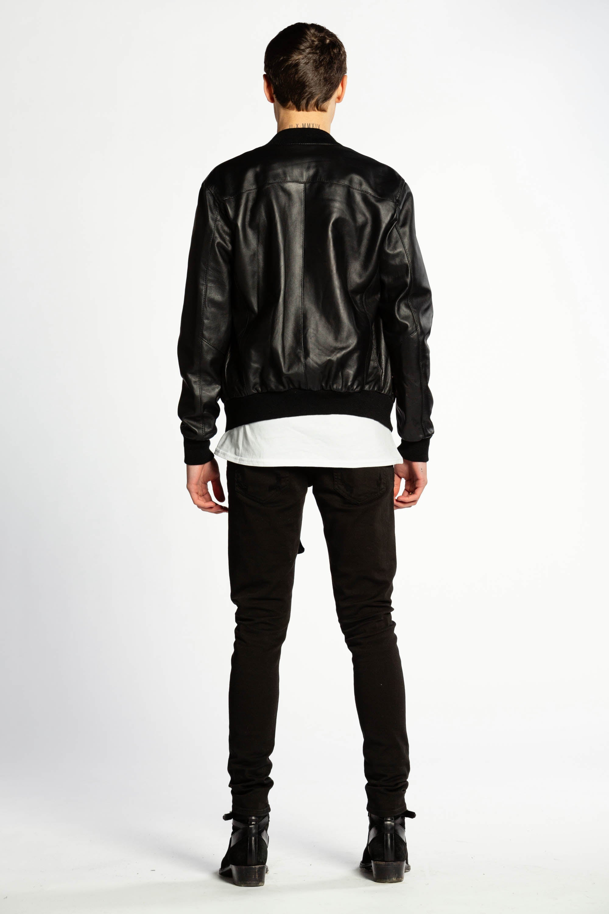 JACKET BOMBER LEATHER
