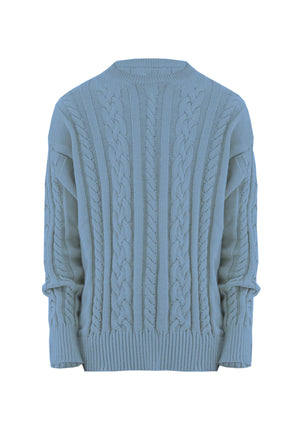 Sweater Braided Light Blue