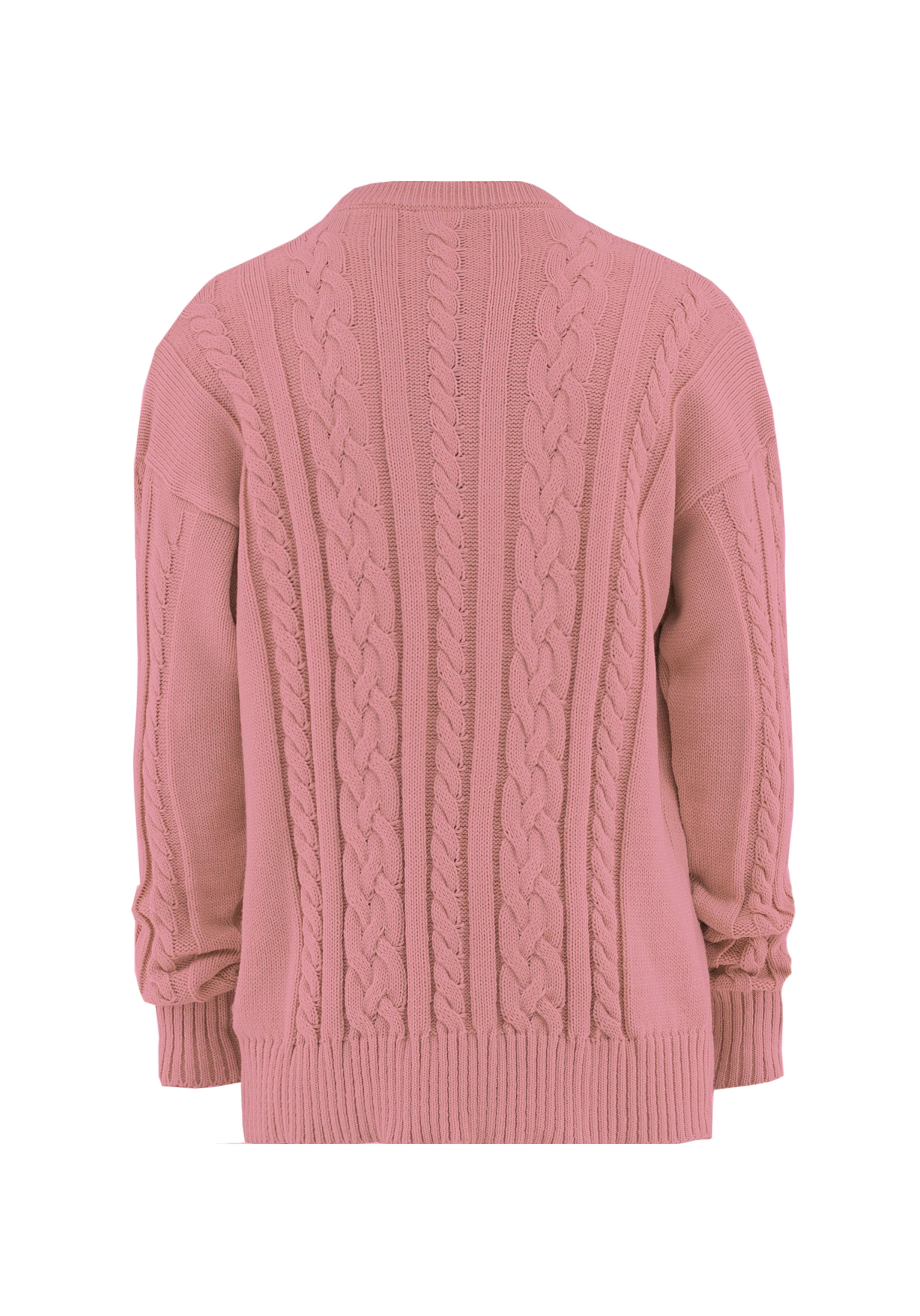 Sweater Braided Pink