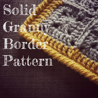 How to crochet a flat border around solid granny squares (sort of tutorial, sort of pattern!)