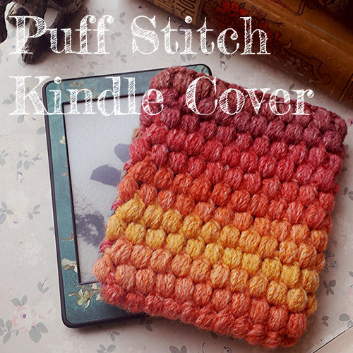 Crochet Kindle Cover ta dahhh and pattern!
