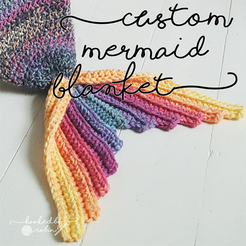 Mermaid Tail Blanket MADE TO ORDER