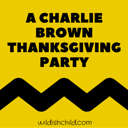 A Charlie Brown Thanksgiving Party