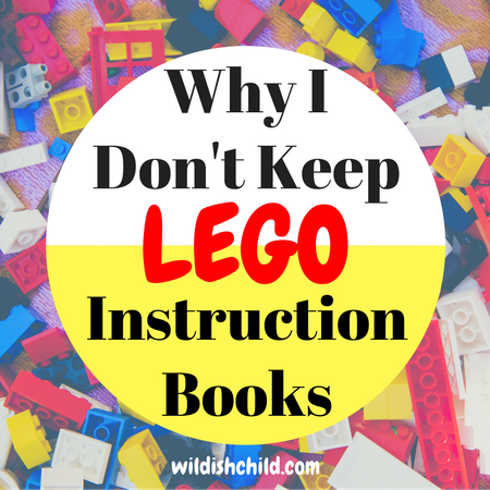 Why I Don't Keep Lego Instruction Books