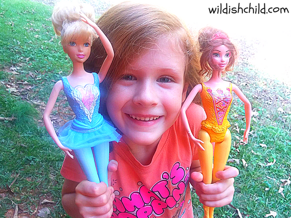 wildish child in defense of barbie part two girl with ballerina barbie dolls