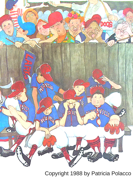 wildish child favorite book friday casey at the bat illustrated by patricia polacco crowd scene