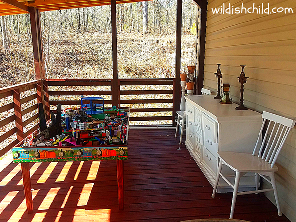 wildish child the unusual place we store legos full porch view