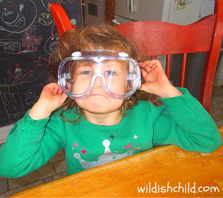 wildish child wacky lab little mama with goggles