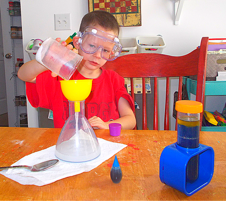 wildish child wacky lab the boy doing experiments