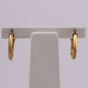 10kt Yellow Gold Hoops 2