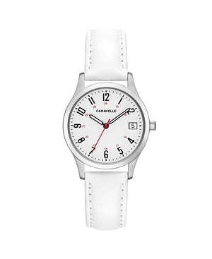 Women's White Leather Watch (43M117)