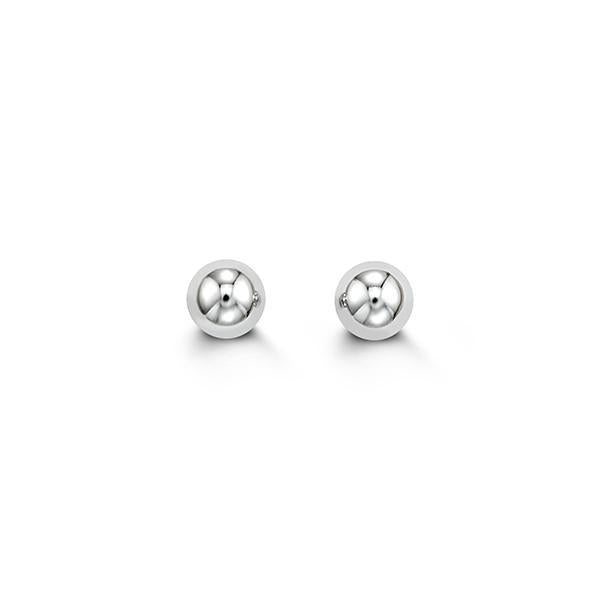 14kt Ball Studs - White - Design by Jesse