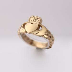 Celtic Claddagh - Gold - Design by Jesse