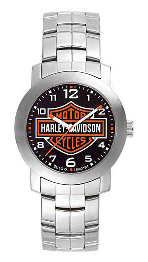 Harley-Davidsonå¨ Men's Bulova Bar & Shield Watch (76A019) - Design by Jesse