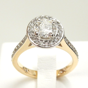 DbJ Halo Engagement Ring - Design by Jesse