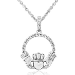 Sterling Silver Waterford Claddagh Necklace 1