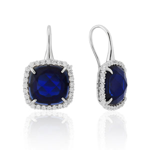 WE106 Waterford Silver Earrings with Crystals